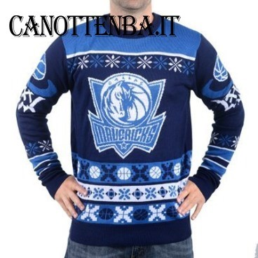 NBA Maglione Ugly Unisex Dallas Mavericks Azul