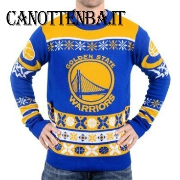 NBA Maglione Ugly Unisex Golden State Warriors Azul