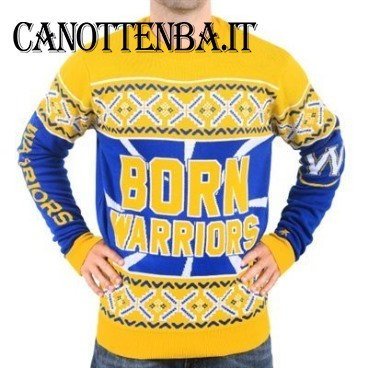 NBA Maglione Ugly Unisex Golden State Warriors Giallo