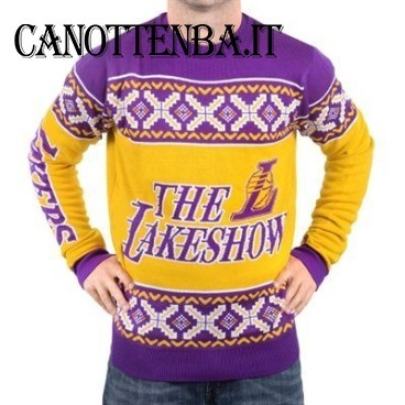 NBA Maglione Ugly Unisex Los Angeles Lakers Giallo Porpora