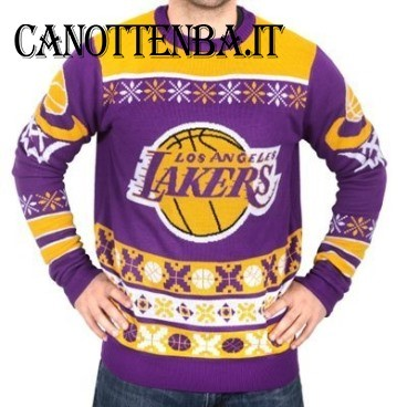 NBA Maglione Ugly Unisex Los Angeles Lakers Giallo