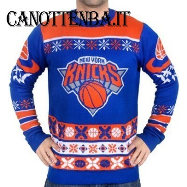 NBA Maglione Ugly Unisex New York Knicks Azul