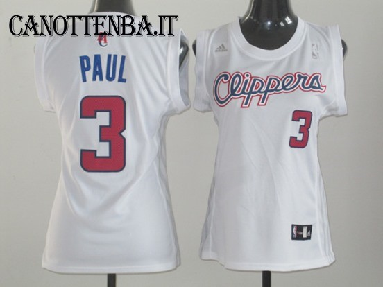 Maglia NBA Donna Los Angeles Clippers NO.3 Chris Paul Bianco