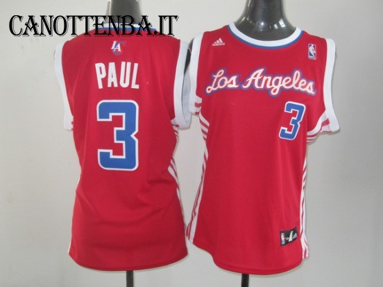 Maglia NBA Donna Los Angeles Clippers NO.3 Chris Paul Rosso