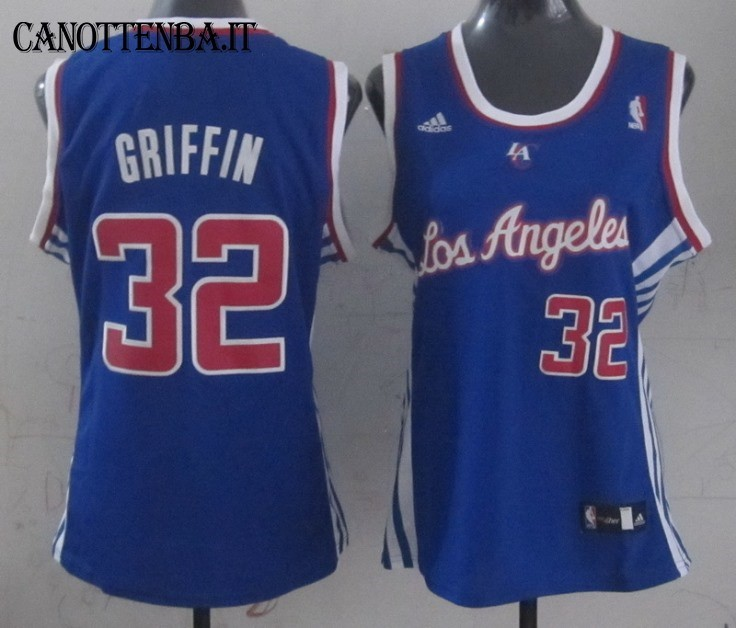 Maglia NBA Donna Los Angeles Clippers NO.32 Blake Griffin Azul