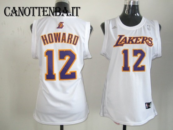 Maglia NBA Donna Los Angeles Lakers NO.12 Dwight Howard Bianco