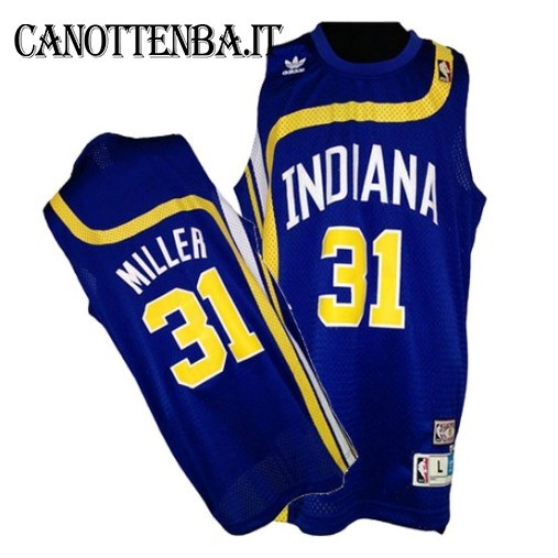 Maglia ABA Indiana Pacers NO.31 Miller Azul