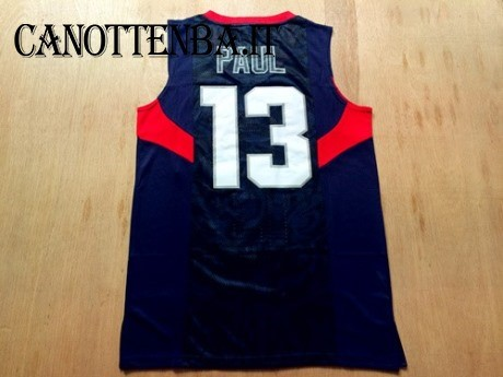Maglia NBA 2008 USA NO.13 Chris Paul Nero