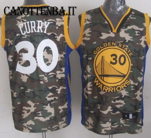 Maglia NBA 2013 Camouflage Moda NO.30 Curry
