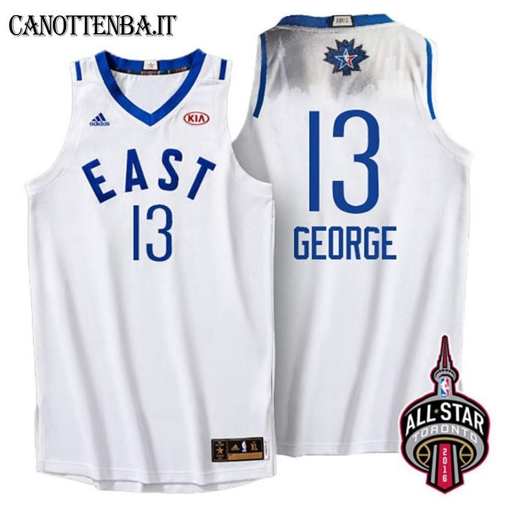Maglia NBA 2016 All Star NO.13 Paul George Bianco