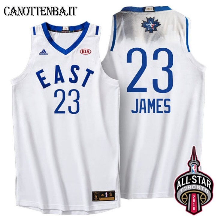 Maglia NBA 2016 All Star NO.23 LeBron James Bianco