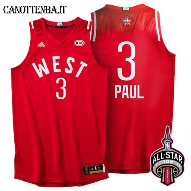 Maglia NBA 2016 All Star NO.3 Chris Paul Rosso