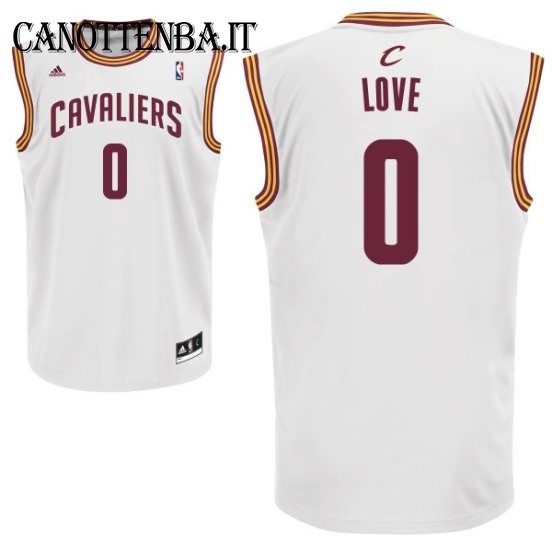 Maglia NBA Cleveland Cavaliers NO.0 Kevin Love Bianco