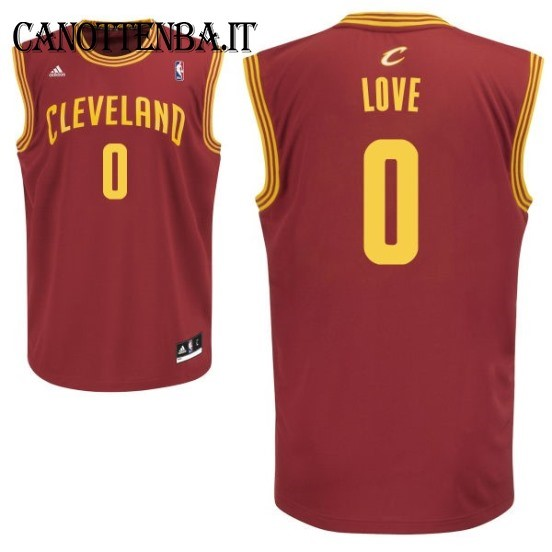 Maglia NBA Cleveland Cavaliers NO.0 Kevin Love Rosso