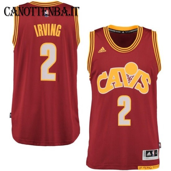 Maglia NBA Cleveland Cavaliers NO.2 Kyrie Irving 2015-2016 Rosso