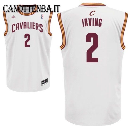 Maglia NBA Cleveland Cavaliers NO.2 Kyrie Irving Bianco