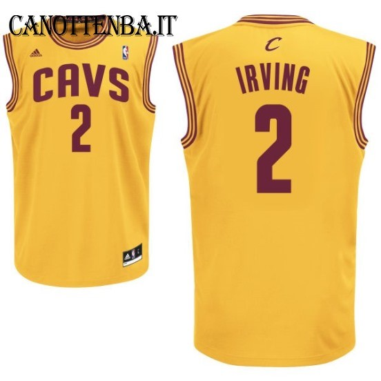 Maglia NBA Cleveland Cavaliers NO.2 Kyrie Irving Giallo