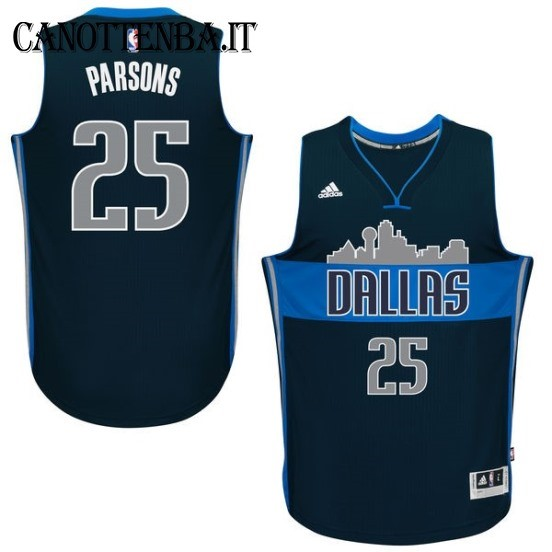 Maglia NBA Dallas Mavericks NO.25 Chandler Parsons Azul Profundo