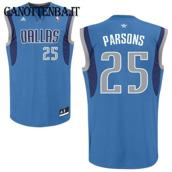 Maglia NBA Dallas Mavericks NO.25 Chandler Parsons Azul