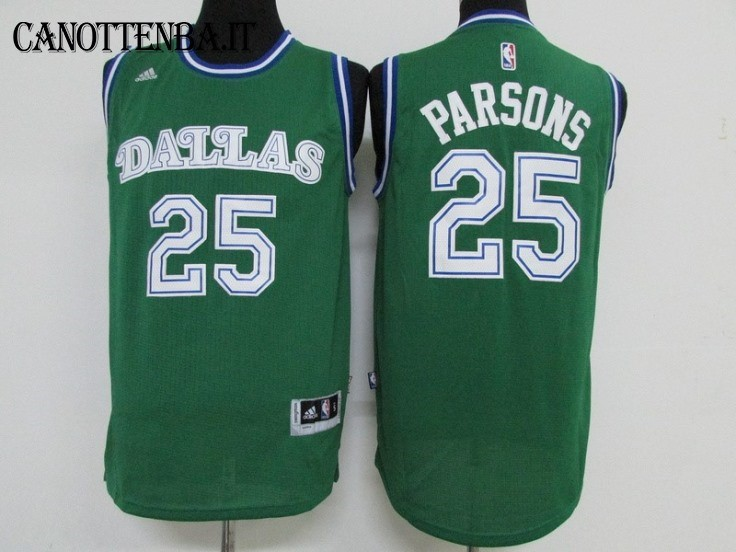 Maglia NBA Dallas Mavericks NO.25 Chandler Parsons Verde