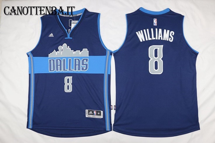 Maglia NBA Dallas Mavericks NO.8 Deron Michael Williams Azul Profundo