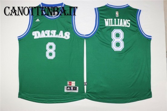 Maglia NBA Dallas Mavericks NO.8 Deron Michael Williams Verde