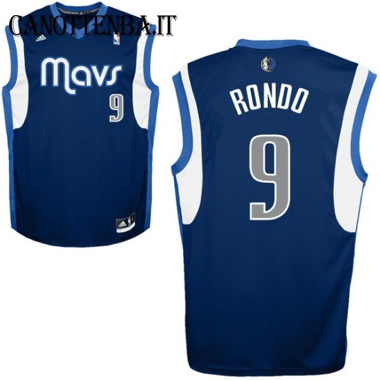 Maglia NBA Dallas Mavericks NO.9 Rajon Rondo Azul Profundo