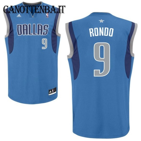 Maglia NBA Dallas Mavericks NO.9 Rajon Rondo Azul