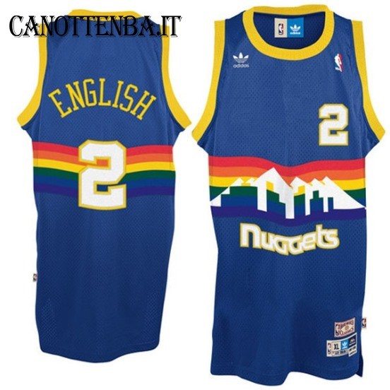 Maglia NBA Denver Nuggets NO.2 Alex English Azul