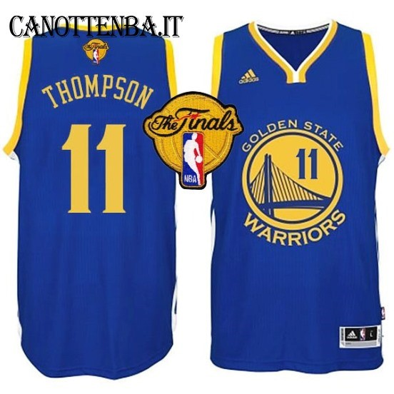 Maglia NBA Golden State Warriors Finale NO.11 Thompson Azul