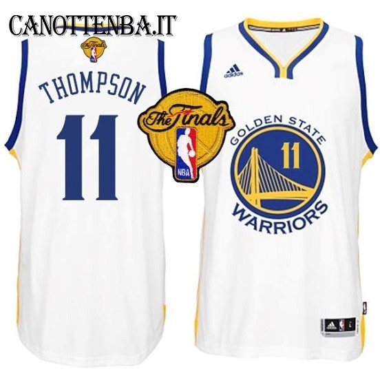 Maglia NBA Golden State Warriors Finale NO.11 Thompson Bianco
