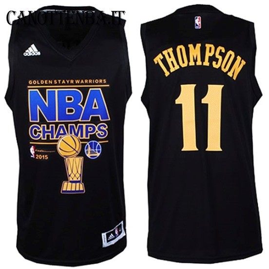 Maglia NBA Golden State Warriors Finale NO.11 Thompson Nero