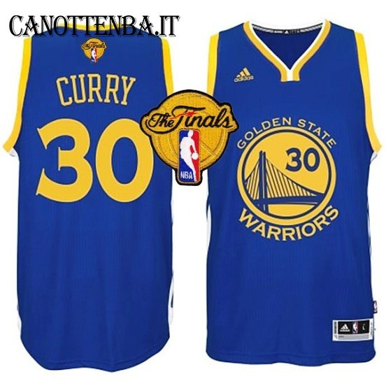 Maglia NBA Golden State Warriors Finale NO.30 Curry Azul