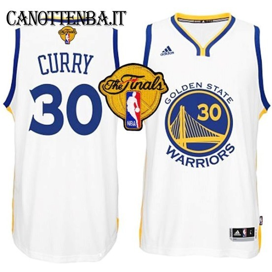 Maglia NBA Golden State Warriors Finale NO.30 Curry Bianco