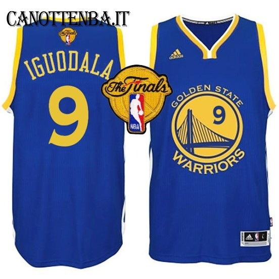 Maglia NBA Golden State Warriors Finale NO.9 Iguodala Azul