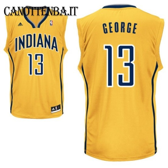 Maglia NBA Indiana Pacers NO.13 Paul George Giallo