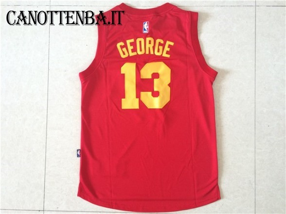 Maglia NBA Indiana Pacers NO.13 Paul George Rosso