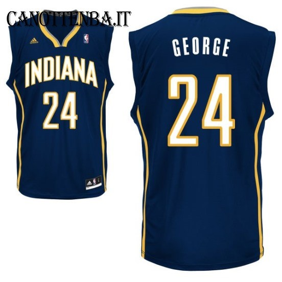 Maglia NBA Indiana Pacers NO.24 Paul George Azul