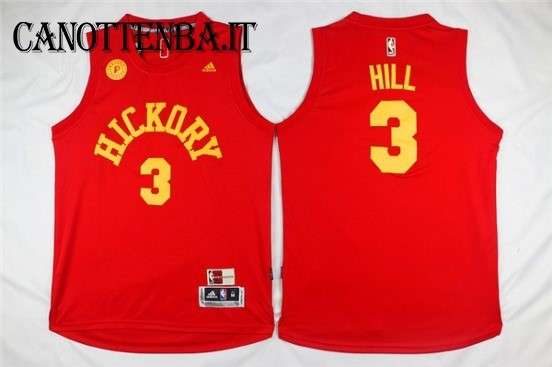 Maglia NBA Indiana Pacers NO.3 George Hill Rosso