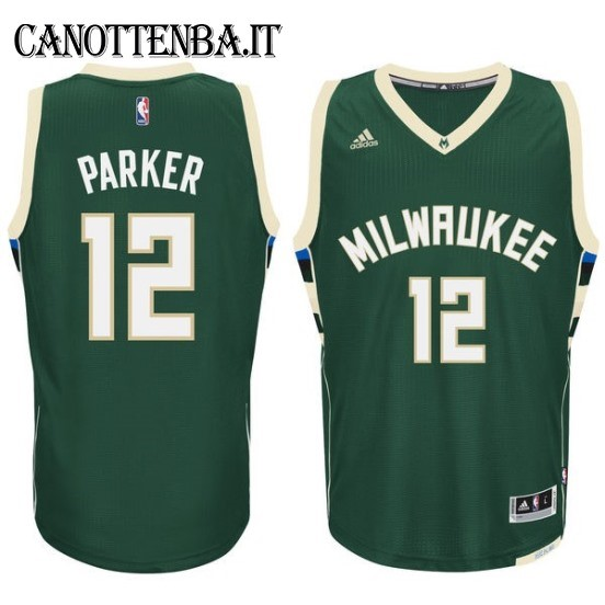 Maglia NBA Milwaukee Bucks NO.12 Jabari Parker Verde