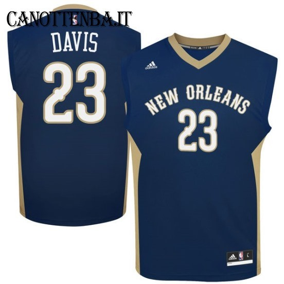 Maglia NBA New Orleans Pelicans NO.23 Anthony Davis Azul