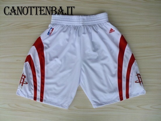 Pantaloni Basket Houston Rockets Bianco
