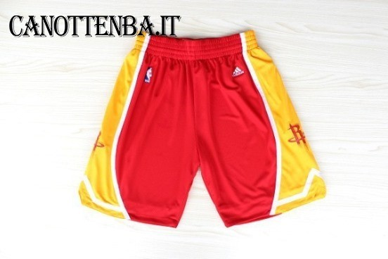 Pantaloni Basket Houston Rockets Retro Rosso