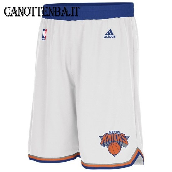 Pantaloni Basket New York Knicks Bianco